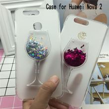 Buy Glitter Quicksand Phone Cases Huawei Nova 2 Case Bling Cute Srtars Cup Soft Silicon Back Cover 3D Capa Fundas for $3.57 in AliExpress store