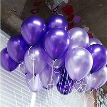 100pcs Purple Helium Ball Globos Latex Pearl Balloon Birthday Wedding Party Decoration Ballon kids Ball toys pink balons