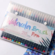 20 Color Watercolor Copic Markers Pen Premium Painting Soft Brush Pen Set Coloring Books Manga Comic Calligraphy Art Marker