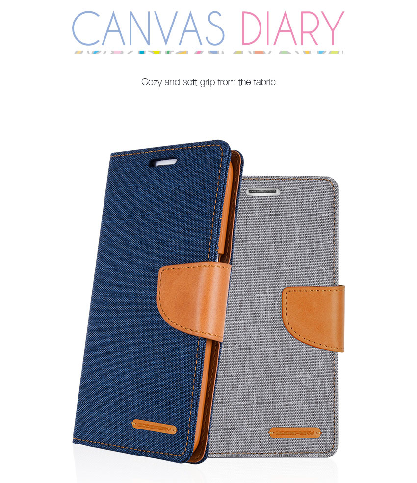 Wallet Case Canvas Diary Flip Cover For Samsung Galaxy S3 S4 S5 S6 Goospery Xiaomi Note 4 4x Pink Detail Eng 6