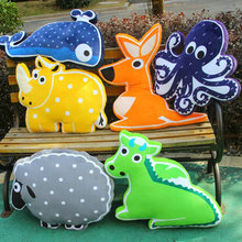 New Cute Animals Plush Toys Plush Sheep/octopus/Whale/Unicorn Printing Pillow Bed Soft Cushion kids toys birthday gift 50-70CM(China)