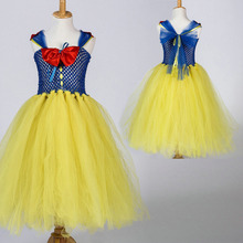new girls kids fashion 2016 dress up costume for kids snow white dress(China)