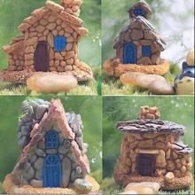 2016 NEW Stone House Fairy Garden Miniature Craft Micro Cottage Landscape Decoration Random Style For DIY Resin Crafts