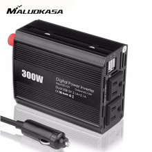 MALUOKASA Car Inverter 300W Pure Sine Wave Inverter 12V to 230V 60HZ AC Pure Sine Wave Power Inverter Car Voltage Converter