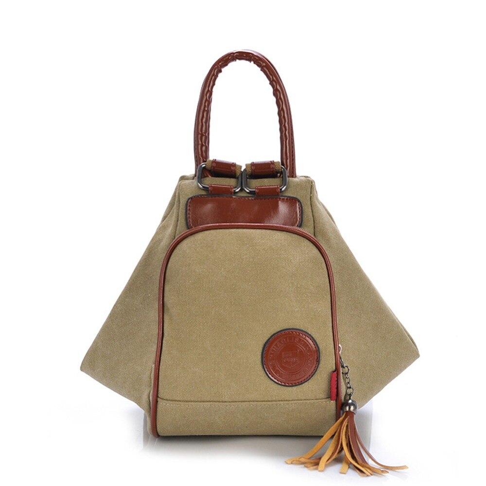 ZENTEII Women Retro Vintage Canvas Backpack Shoulder Bag<br>