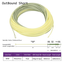 Maximumcatch Outbound Short Fly Fishing Line 8wt 100FT Moss/Lvory Color Weight Forward Fly Line With 2 Welded Loops(China)