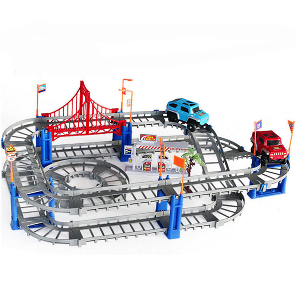 Parent-children Interaction 73PCS/set Thomas Tracking Building Kits Toy for Kids Race Track Model & Electric Speed Car 1/32 3