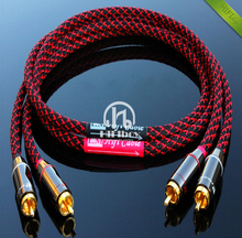 HIFI amp audio cable RCA line thickened wall connector canare professional power amp cable size 0.5m 1m 1.5m 2m