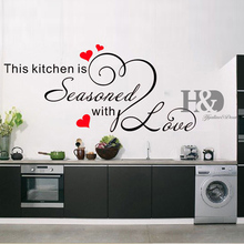 This Kitchen Seasoned adesivo de parede decor Wall Art Decals Decorative Vinyl Kitchen Home Decor Vintage Transfer Wall Stickers