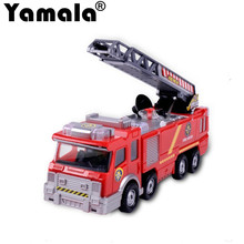 [Yamala] Free Shipping Juguetes Fireman Sam Kids Toys Fire Truck Car With Music Led For Fire Truck Educational Water Spray Toy