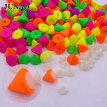 10mm Mix Color Cone Studs and Spikes Plastic Punk Decorations Rivet For Leather Crafts Clothes Accessories 500pcs