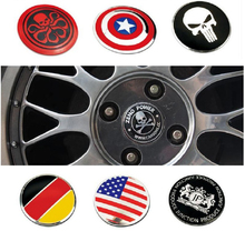 1pc 56.5mm Car-styling Tire Wheel Center Car Sticker Hub Cap Emblem Badge Decals Symbol For AMG BMW Audi Mercedes Porsche