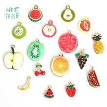 Best Selling Enamel Metal Alloy Fruit Charm Pendant for DIY Earring Bracelet Necklace Jewelry Findings Craft Making