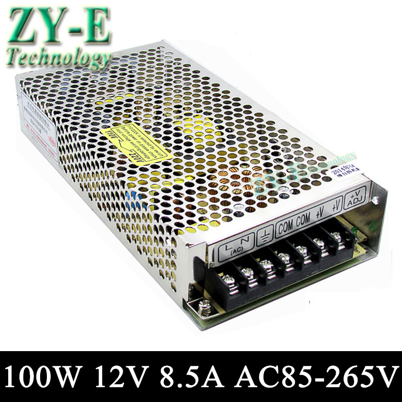 100W 12V 8.5A Switching led DC Power Supply non-waterproof led driver for 3528/5050 LED strip light block power Free shipping<br><br>Aliexpress