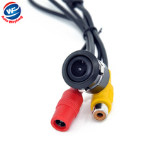 Super Mini 18.5MM Car Camera Rear View parking back Camera reversing Camera HD CCD waterproof free shipping  WF
