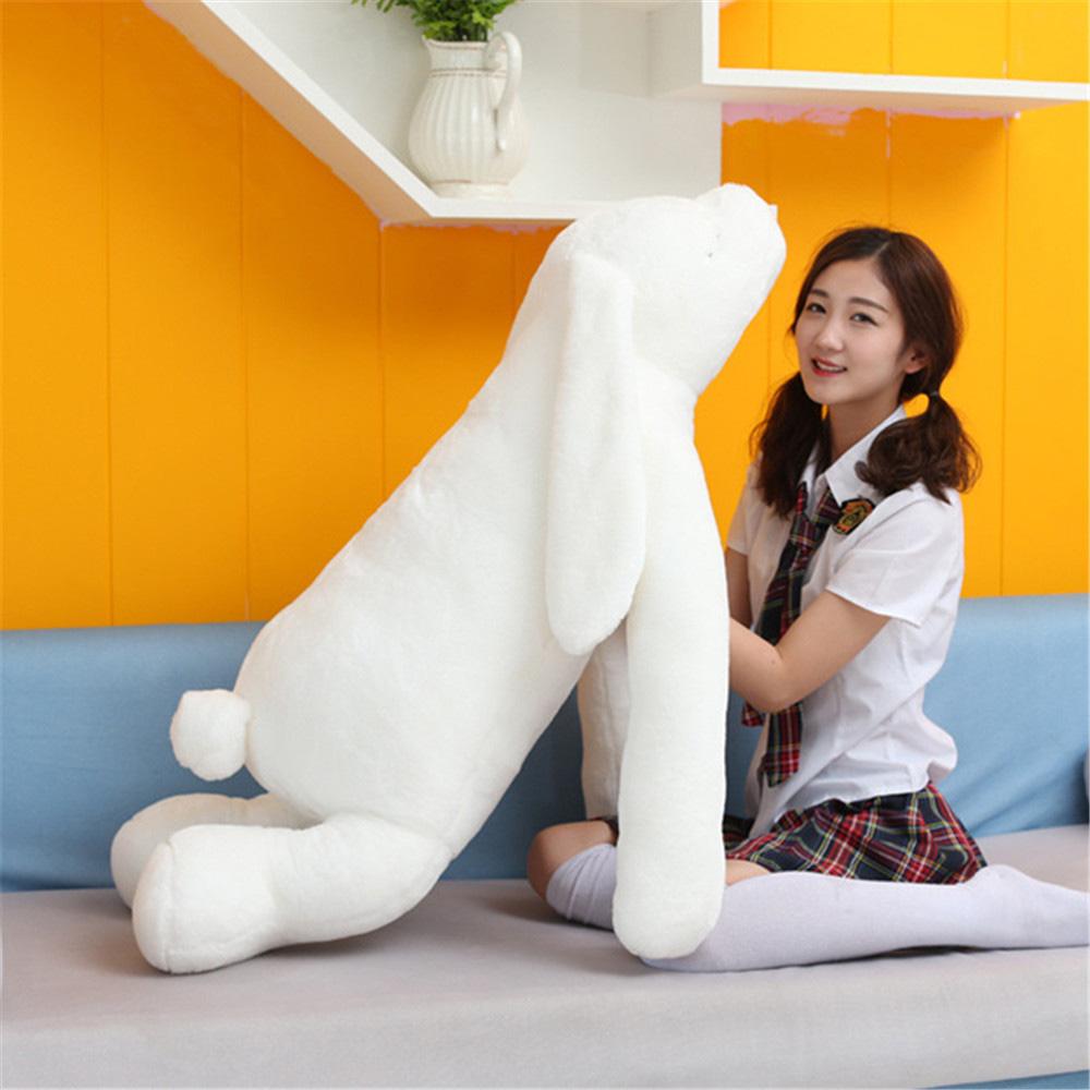 New 47inch 120cm Jumbo Soft Plush Stuffed Longer Ears Rabbit Bunny Toy, Nice Gift For Babies, Free Shipping FT50532 5