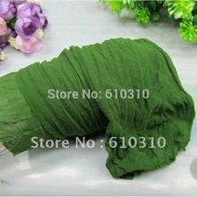 Free Shipping wholesale 2.5m bmilitary green color nylon flower stocking making for wedding diy heart accessory(20pcs/Lot)(China)