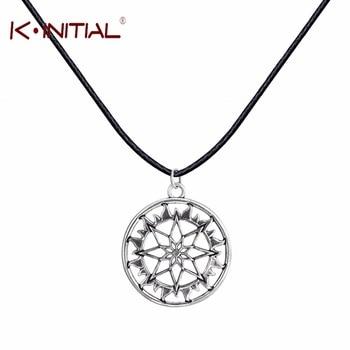 Kinitial 1Pcs New Fashion Handmade Antique Nordic CELTIC ARYAN Pendant Necklace Amulet Shield Alatir Necklaces Fashion ewelry