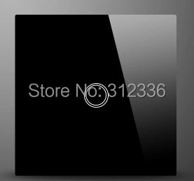 free shipping wall switch Glass touch switch panel  one on Double control tempering glass  thickness is 4 mm<br>