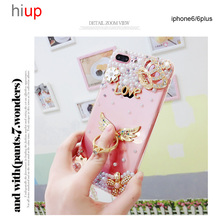 Hiup Luxury Crystal Clear diamond Swarovski Case For iphone 7 7 Plus Soft TPU Plus Fundas Mobile phone shell(China)
