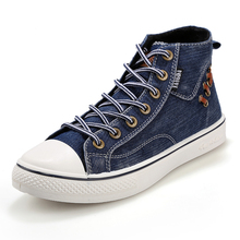 Plus Size 39-44 New 2016 Men Shoes Casual High Top Canvas Shoes Men Flats Brand Shoes Men Zapatillas Deportivas Sapato Masculino
