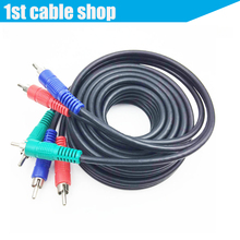 3 RCA Component Video Cable RGB Ypbpr cable 6ft 1.8M nickel-plated OFC conductor High quality