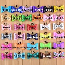 30PCS 5*3CM hair sequin bow for kid headband DIY craft can choose colors(HMB-33)(China)
