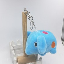 Retail 1Pc 11CM Cute Plush Elephant Stuffed Elefante Soft Dolls Phone/Bag/Key chain Pendants Promotion Gifts(China)