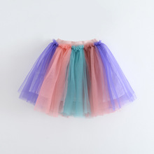 Children Casual Skirts 2017 Summer Belle Clothing Fashion Cute Girls Tulle TuTu Skirts High-grade Childrens Clothes Wholesale
