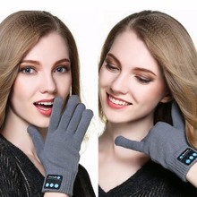 Hot Sale Womens Men Bluetooth Gloves Touch Screen Mobile Headset Speaker For Andriod iPhone Warm Winter Smart Glove Head phones(China)