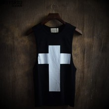 Buy Fashion Cross Printed Loose Big Yards T Shirt Size Vest Round Collar Comfortable Hip-hop Style T Shirts for $7.20 in AliExpress store