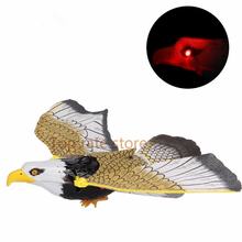 Xmas sale Electronic Eagle Sling Hovering Hawk Birds Toy with Flashing Sounding Electrical Pet gifts for kids Chrismas FREE SHIP