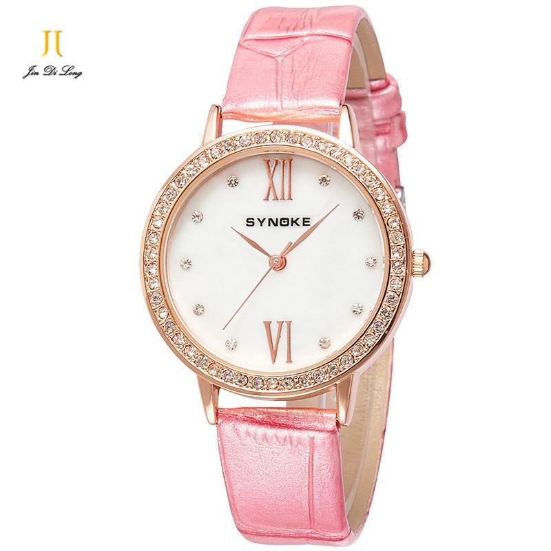 Brand Fashion Ladies Casual Dress Watch Women Quartz-Watch Diamond  Leather Strap Watches Waterproof  Relojes Mujer<br>