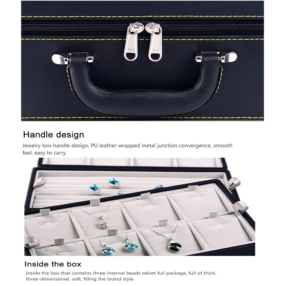 Portable Jewelry Travel Storage Box Case Organizer Holder for Earrings Ring Necklace Pendant Watch Bracelet (3)