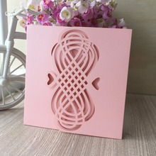 30pcs Laser Cut Pearl paper postcards Wedding Invitation Cards Celebrating Congratulation card Party Marriage Invitation card(China)