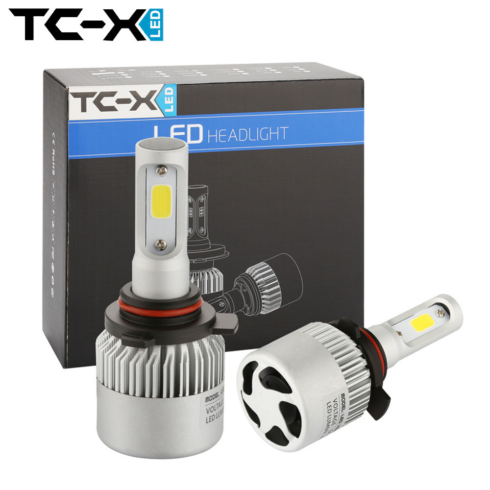 TC-X 2pc/lot 9012 High Power COB LED Chips Car Headlights Conversion Kit 72W 8000LM All In One Car LED Headlights Bulb Fog Light<br><br>Aliexpress