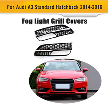 ABS Front Fog Lamp Covers for Audi A3 Sportback Standard Hatchback 4 Door Only 14-16 Non Sline RS3