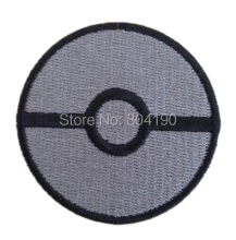 Pokemon Go STORING Ball Grey logo Iron On Patch Pocket Comics Embroidered Emblem applique Costume Cosplay Party Favor