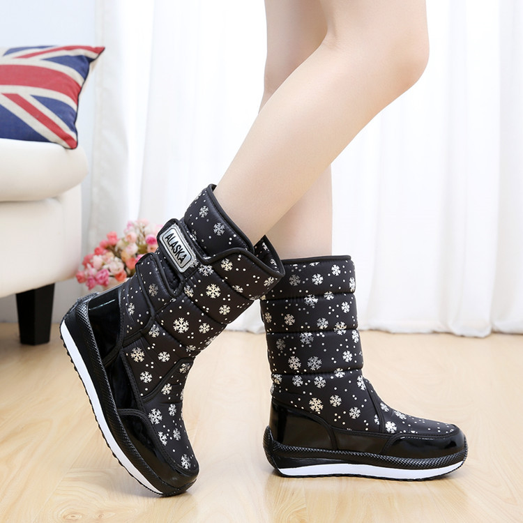 2017 new ALASKA winter boots thickening snow non-ski boots warm female snow boots inside tube short plush womens boots<br><br>Aliexpress