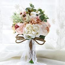 Countryside Style Artificial Wedding Bouquets For Brides Outside Lace Wedding Flowers Brooch Bouquets Bouquet De Mariage
