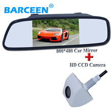 "5"" Color TFT LCD Car Rearview Mirror Monitor 5 Inch Car Screen Car Monitor+ Rear View Reverse Camera  For every kind of cars"