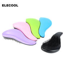 ELECOOL Large 1Pcs Anti-Static Hair Brush Comb Professional Detangle Hair Brush Comb escova de cabelo Styling Tool For Women(China)