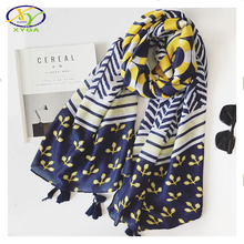 1PC 180*100CM 2017 Spring New Design Cotton Women Big Size Long Scarf Woman New Polyester Tassels Big Shawls Pashminas