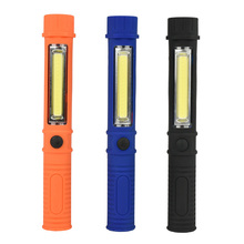 Hot Multifunction Portable Mini COB Led Work Light LED Flashlight Torch Magnet Penlight Lamp For Camping USE 3*AAA batteries(China)