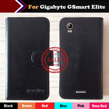 Hot!! Gigabyte GSmart Elite Case 6 Colors Leather Crazy Horse Exclusive For Gigabyte GSmart Elite Phone Cover+Tracking(China)