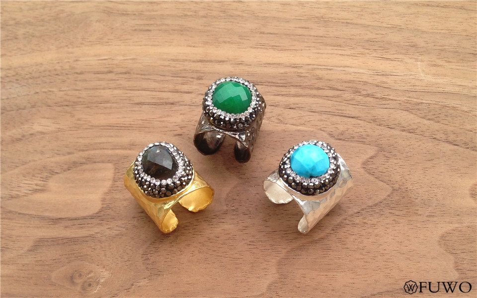 Carved Gem Stone Rings 8