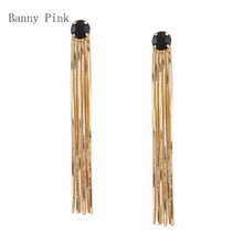 New Geo Long Tassel Snake Chain Pendant Studs Earrings For Women Chunky Long Multi Chains Post Earring Fashion Jewelry Pendietes