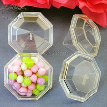 FREE SHIPPING 24PCS Clear Diamond Candy Boxes Favors Holders Bridal Shower Wedding Souvenir Party  Deco Supplies