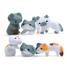 toys 6 pcs/set Japanese cute cats backyard hand do diy small fresh wild gardening ice cream baking action & toy figures doll(China)