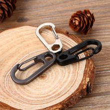 Outdoor Camping Hiking Carabiner Hook Stainless Steel Keychain Buckle  Release Keyring Tents Spring Snap Hook